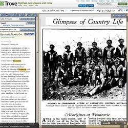 16 Sep 1931 - Glimpses of Country Life Aborigines at Pooncarie
