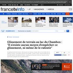 FranceTV Info : L'interview de Lionel Lorier, responsable de la Société alpine de géotechnique