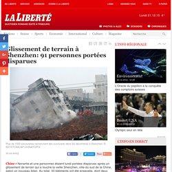 Glissement de terrain à Shenzhen: 91 personnes portées disparues