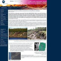 Glissements de terrain en Sibérie Centrale liés au réchauffement climatique