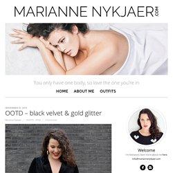 OOTD – black velvet & gold glitter