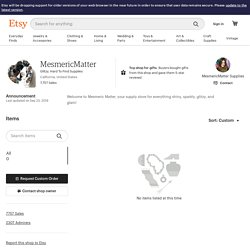 Glitzy Hard To Find Supplies by MesmericMatter on Etsy