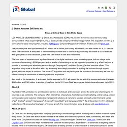 j2 Global Acquires Ziff Davis, Inc. (NASDAQ:JCOM)