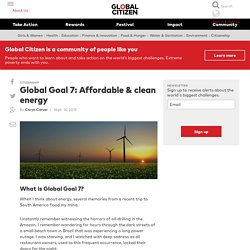 ARTICLE : Global Goal 7: Affordable & clean energy