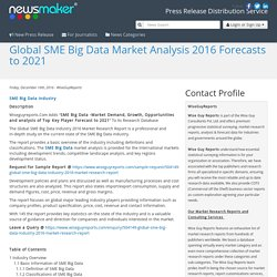 Global SME Big Data Market Analysis 2016 Forecasts to 2021