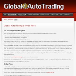 Global AutoTrading - Fees