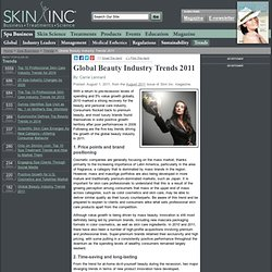 Global Beauty Industry Trends 2011