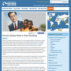 China's Global Role in Dam Building