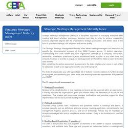 Global Business Travel Association - Strategic Meetings Management Maturity Index