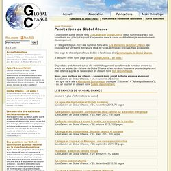 GLOBAL CHANCE
