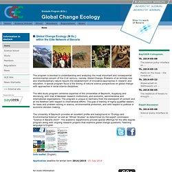 Global Change Ecology