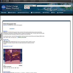 Global Change Master Directory (GCMD)