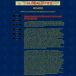 Global Cities : Mesurer