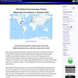 Global Consciousness Project -- consciousness, group consciousne