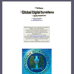 The Rise of Global Digital Surveillance - Spying, Prying and Lying