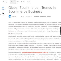 Global Ecommerce Trends