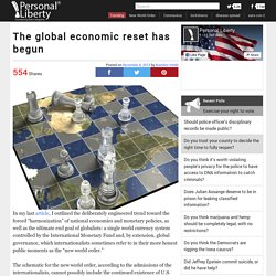 The global economic reset has begun