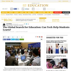 The Global Search for Education: Can Tech Help Students Learn?