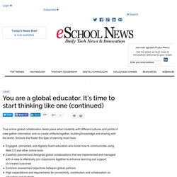 You are a global educator. It's time to start thinking like one