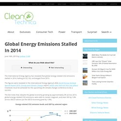 Global Energy Emissions Stalled In 2014