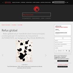 Refus global - l'Encyclopédie Canadienne