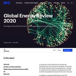 Global Energy Review 2020 – Analysis - IEA