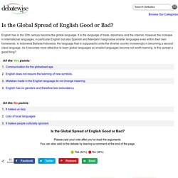 Is the Global Spread of English Good or Bad? - DebateWise