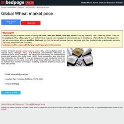 Global Wheat market price