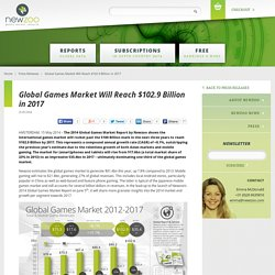 Global Games Market Will Reach $102.9 Billion in 2017