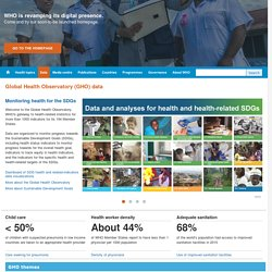 World Health Organization Global Health Observatory