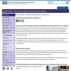 Global Health - Global Health Security - Why It Matters