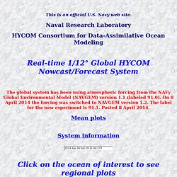 Global HYCOM 1/12 degree page