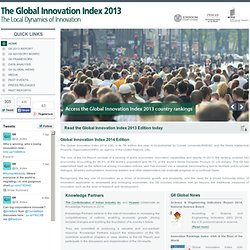 The Global Innovation Index 2013 - The Local Dynamics of Innovation