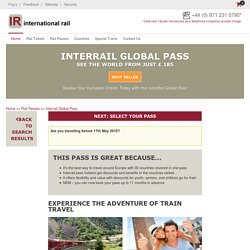 Travel Freely in Europe with a Global Pass from International Rail