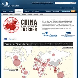 China Global Investment Tracker Map