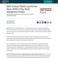 S&P Global Platts Launches New APSI 5 Dry Bulk Weighted Index
