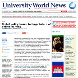 Global policy forum to forge future of online learning