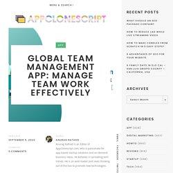 Global Team Management App: Manage Team Work Effectively