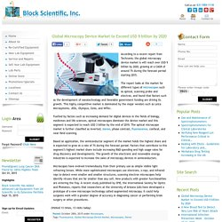 Global Microscopy Device Market to Exceed $9 billion by 2020
