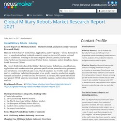 Global Military Robots Market Research Report 2021