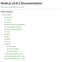 Node.js v6.8.1 Documentation