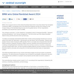 BMW case - Winning of Global Randstad Award 2014