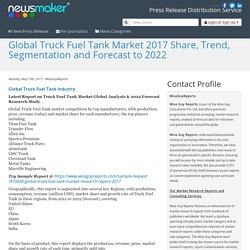 Global Truck Fuel Tank Market 2017 Share, Trend, Segmentation and Forecast to 2022