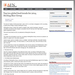 Top ten global food trends for 2014, Sterling-Rice Group