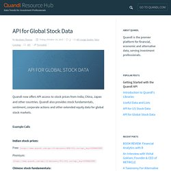 API for Global Stock Data - Quandl Resource Hub