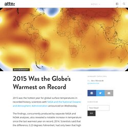 Global Temperatures On the Rise 2015