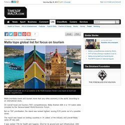Malta tops global list for focus on tourism