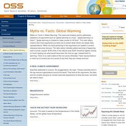 Myths vs. Facts: Global Warming — OSS Foundation