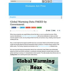 Global Warming Data FAKED by Government