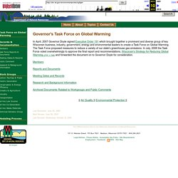 Global Warming - Governor's Task Force - WDNR